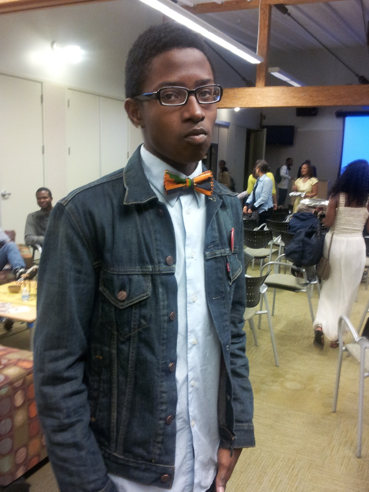 This brother was so fresh in his bow tie I had to give him a# GOOD IDEA S/O