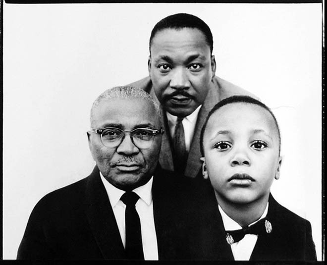 "3 Kings: Dr. Martin Luther King Jr. with his father and son. #Good Idea Re-thinking the G- Code    I'm not a father. Yet…     My relationship with my father was nearly non-existent as I grew up. Though recently my father and I have begun a healing process around that, I am always reminded and aware of the void in my development caused by him opting out of my life. When I look at small children it confirms over and over again that if I ever have children I will be relatively useless to the rest of the world as soon as they are born. I doubt I'll be on planes, writing, or even reading the newspaper for quite sometime after my child is born. I'm pretty sure I'll spend the majority of my time absolutely stuck. Just standing there, staring! Hell I'm like that with other people's kids now! I'll be at a restaurant or something and a 3 year old will start talking or walking around exploring and I am totally fascinated. I wonder what they're thinking about and how they perceive the world around them. This may seem odd to say, but small children just seem closer to God than most of the 7-90 year olds I come across. In a way I think they're aware of this until they are talked, McDonald'ed, and TV'ed out of it. After the thought of how enamored I'd be with a child of my own crosses my mind I often think, ""How the hell do so many people not partake in their children's lives?"" This is not a conversation that can be solely boxed into a certain racial or any other specified demographic box, but in relation to my experience, which no matter how many books I write or classes I teach will always be an experience with a foundation in what is coined and labeled as ""ghetto"", ""urban"", or ""at-risk""- I will look at it through that lens. Many, a lot, several, hundreds, thousands, too damn many Black men abandon and or opt out of being in their children's lives. A decision and action with devastating affects on the esteem and success of the infants, toddlers, boys, girls, and teenagers thrown out on the dirt road of neglect by one side of their creation; Their fathers.  What I'd like to discuss and encourage all of us to discuss is beyond the above-mentioned fact. I'd be an utter redundant if this article was about the fact that Black men are not raising their children, as this is a point that has been expounded on via every outlet from doctoral thesis papers to rap songs. What I'd like to address is the irony, and, for lack of a better literary term, assbackward-fuckery to be observed when you look at the standards that come from our communities when it comes to what's deemed cool or not cool, acceptable or unacceptable, punk shit or player shit.  If I walk into any 6th grade class in Ghetto USA and ask what's the worse thing a person can be in your neighborhood, EVERY child in that classroom would at the same time with the same tone and look on their face yell out with absolute confidence that they had the right answer: A SNITCH! This is something we all know if you came up around the way. Snitching is a no no. Being a crack head is bad, but a crack head that snitches on somebody has stooped to a new low. Hoeing is never cool (though somehow pimping is), but throw a snitch jacket on a ho and suddenly she's found an even lower tier of respect.     Even being suspected of being a snitch is so bad that it pretty much gets you the same quarantine or even murder bestowed upon you that a bona fide proven snitch would receive.  A close second to the disdain we are taught to have for snitches is the ever-loathed ""hater."" Ohhhhh, we hate a hater! Player haters hate on your paper and mad they ain't a player, you see… They hate cause you look better than them and have what they don't. Hater! So if you come across a snitch or hater in the neighborhood, barbeque, or club- whatever action of violence or verbal abuse you want to lay on them is fully accepted without much questioning. In fact, its encouraged, player… But the G-Code is not just limited to a social penalty on snitching and hating. No. In fact, here's a list of other things that the G-Code strictly prohibits: Trying to be like someone else. Copying a person's style or way of dress. Stealing someone's drug stash. Smoking crack. Being or ""acting"" gay. Being or ""acting"" white. Being afraid of someone or something. Knowing too many things that other people around you don't know.  …Too name a few.    HOWEVER! The one thing that is not on the G-Code list of muthafucka-you-better'not's is being a deadbeat non-existent father in your child's life. Being a deadbeat dad rides in the hood more than $2000 rims on $900 cars. It is accepted, largely expected, and goes unchecked by families. A man who talks to the police risks being killed! A man who doesn't talk to his child risks… not getting to hear their child's voice?   I mean, what is the penalty? How is it that a man that knowingly doesn't take care of his children can casually walk into family gatherings, barbershops, and especially into the arms of his mother and or father and not be checked on this?  As a man I wonder how other men in our communities interact with a deadbeat ass father. Personally, and I'm a nice guy, no friend or family member of mine has ever been able to get past me without addressing not being thorough in their presence in their children's lives. Let me be clear though… It's not like I jump in a cat's face like, ""Kid check, punk! When's the last time you saw your kid!? How much you put on the diapers this week!? I have had several conversations from a space of love though with some brothers who have not been as on point as they should be with their children. Amongst Black men, across age and class backgrounds, I've had conversations that are filled with both excuses and valid explanations, fear and incredible vulnerability regarding not being the father's they should have been for their children. The main consistency, in my opinion, is that most men do not fully realize the pain and collective trauma that is caused by their absence in their children's lives. I think a lack of self worth and value feeds these Brothers not really understanding how important they are too their children's development. They think that not being there is not the biggest deal, that it can be done without them. I believe a lot of this can be attributed to the country around them that has sent a stark message:  ""Black man we can do this America thing without you. We can not hire you, not invest in you outside of a prison, and everything will move on fine without you."" So you see, this larger narrative of non-value trickles down to the most essential role the Black man can have, fatherhood. While we are in consensus that women are a huge part of the development of children and are expected to be there for their children, Black fathers are like an incidental perk or some shit. Like an accessory a Black family is lucky to have but shouldn't expect. Well hear this as if the being you trust the most in your life, be it God, your Mama, Grandmama, or patna- was saying this too you:  NOT BEING THERE FOR YOUR KIDS IS SOME INEXCUSABLE PUNK SHIT! And if you are related to, rolling with, or patna's with, someone who is deliberately not there for their kids, that's your business… But you surely ain't sucka free, homie… Shot out to all the great Daddies, Fathers, Babes, and Papas out there. We love you. Ise Lyfe is a Spoken Word Hip-Hop Theater Artist and Author.  ——————————————————————————————————- Get a FREE copy of ""Pistols And Prayers"" with your ""Walking the Dream"" ticket!! Just email a picture of your ticket purchase confirmation to info@iselyfe.com before Jan.17th at 7pm and receive a FREE copy of ""Pistols and Prayers"" at the show!!"