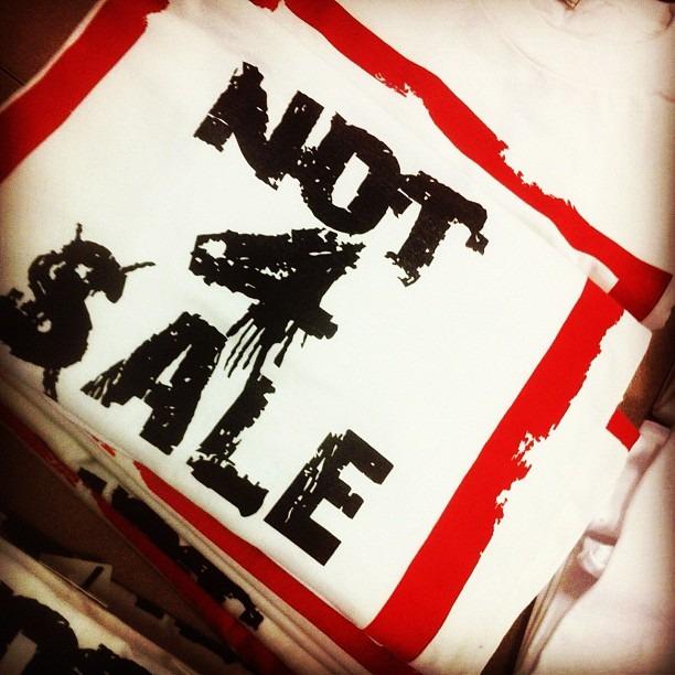 #not4sale tees…www.shop789.bigcartel.com sale 11.25.11 (Taken with instagram)