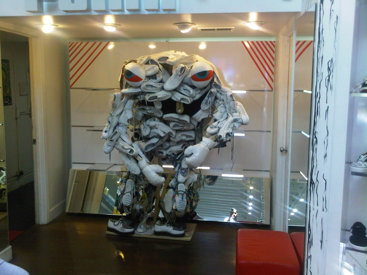 Good Idea:   I've always liked the appeal of some fresh Puma's . I was shopping and saw this monster made out of Puma's at kick spot.iii