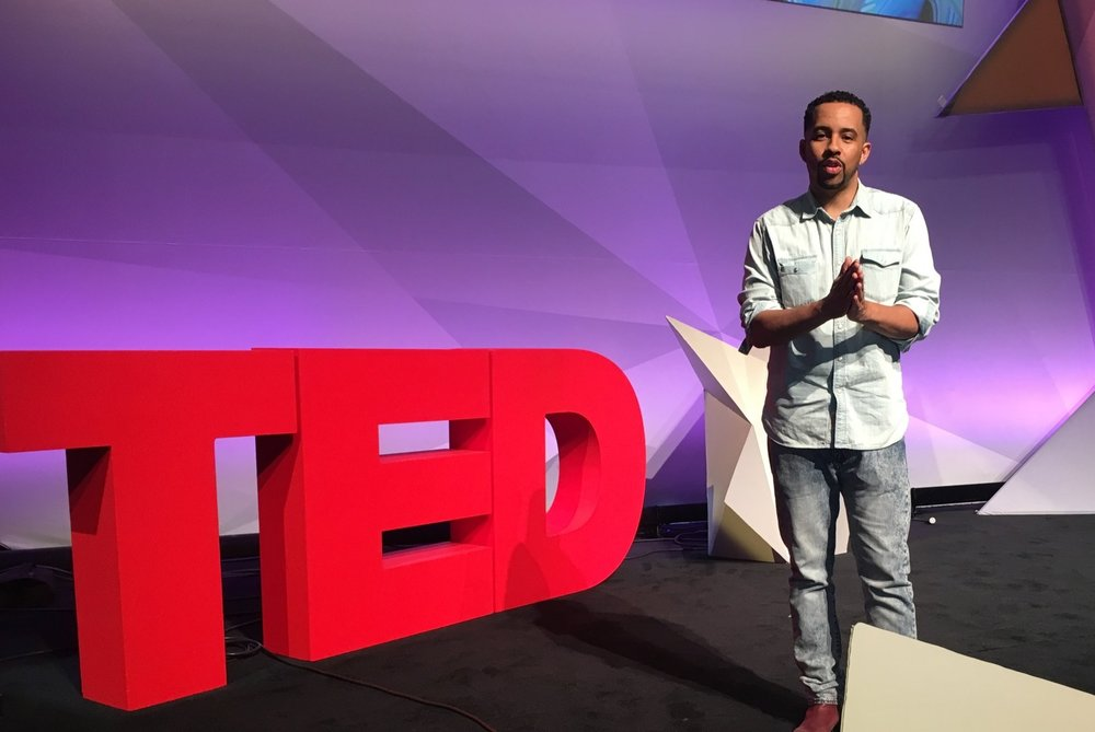 In 2016, Ise Lyfe gave    the sole artistic performance at IBM's TEDTalk convention in San Francisco, CA.    His performance titled,  Flag in the Mud , accompanied by master cellist Michael Fecskes addressed gentrification and displacement driven by the current Tech boom in the Silicon Valley.  Ise received a standing ovation and was interviewed by both  Black Enterprise Magazine  and Bloomberg Businessweek before his performance on his work to advance equity in the realm of tech.