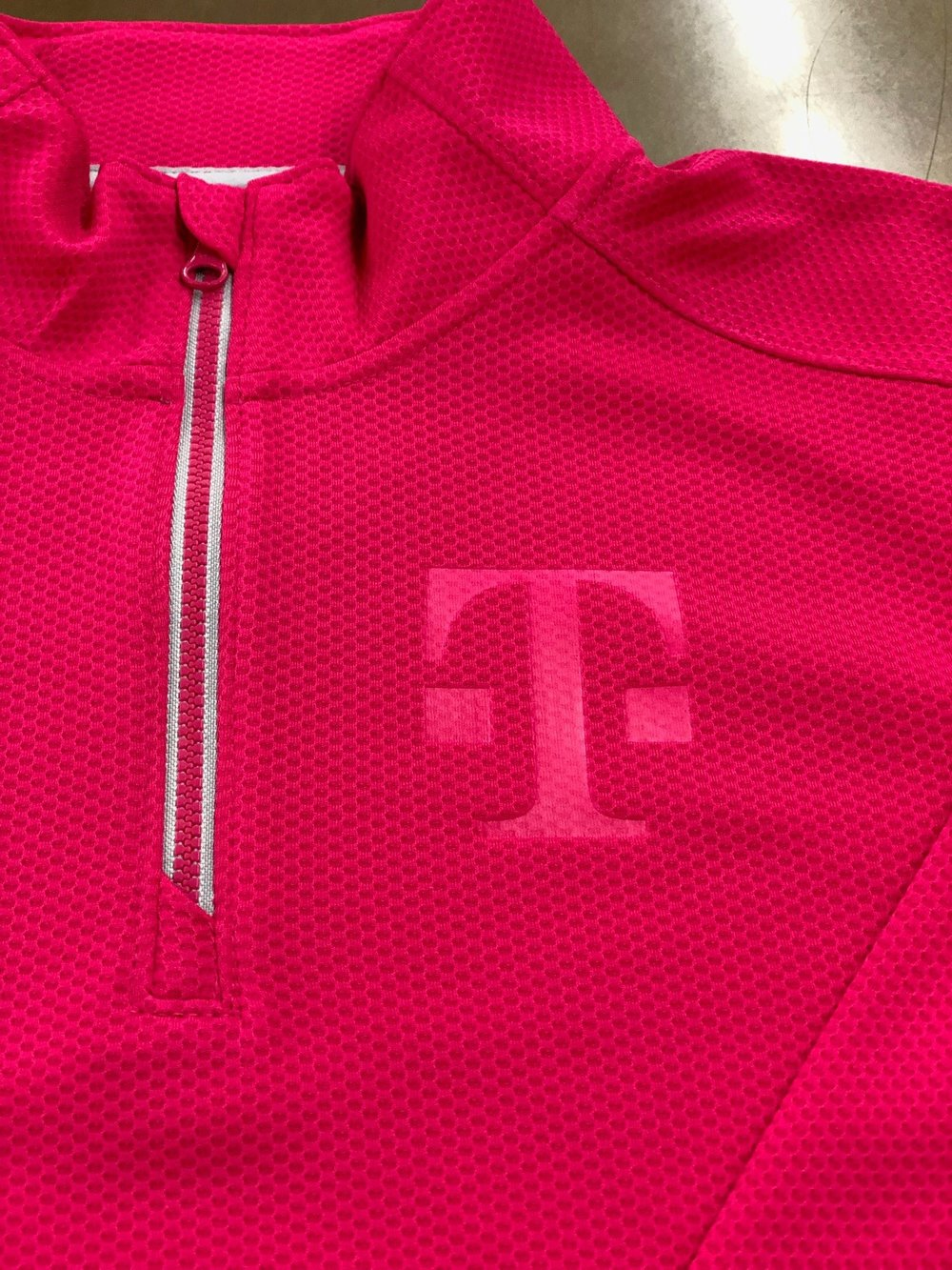 Toggle T Deboss on 1/4 zip for T-Mobile