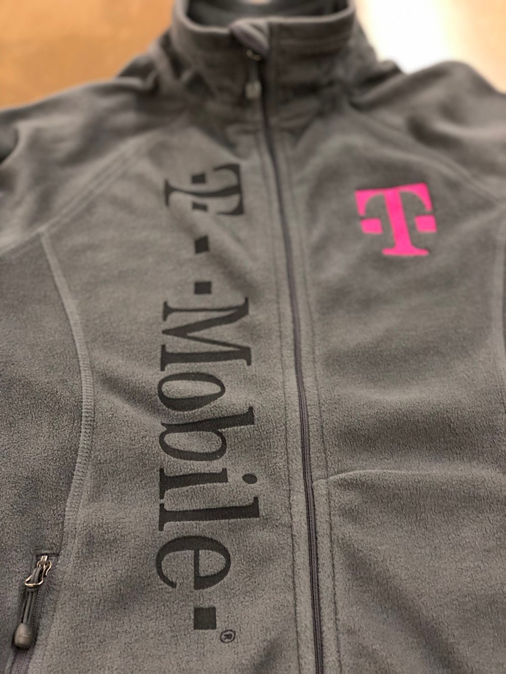 Laser Etched and Embroidered Fleece Jacket For T-Mobile