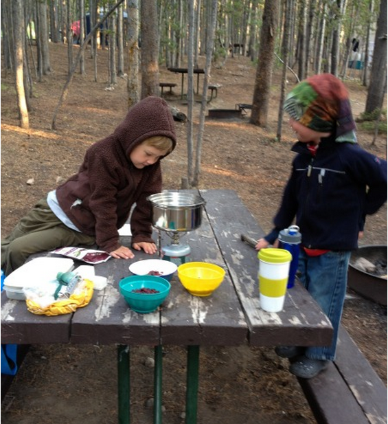 Breakfast at Canyon Campground.
