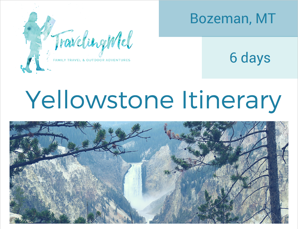 Six Day Yellowstone Itinerary Cover