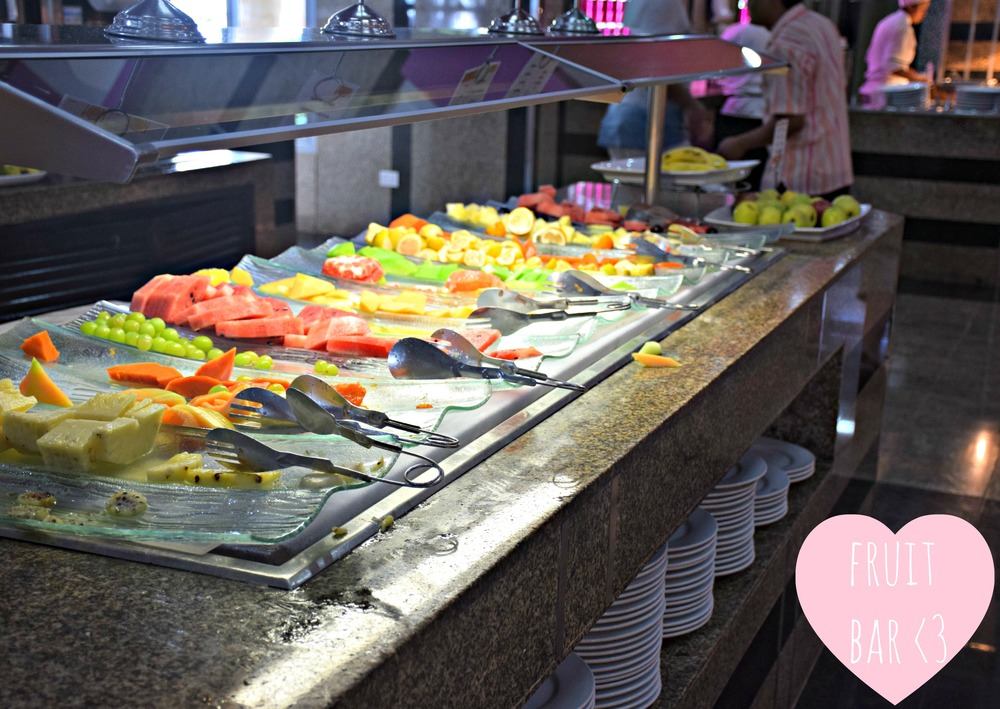 My favorite and most frequented spot at the Riu...the amazing fresh fruit bar.