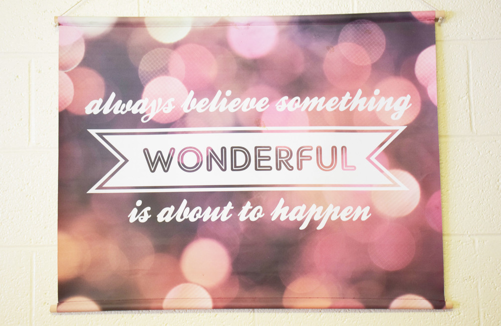 Because the power of positive thinking can do wonderful things