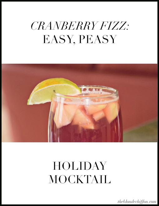 Easy Peasy Holiday Mocktail