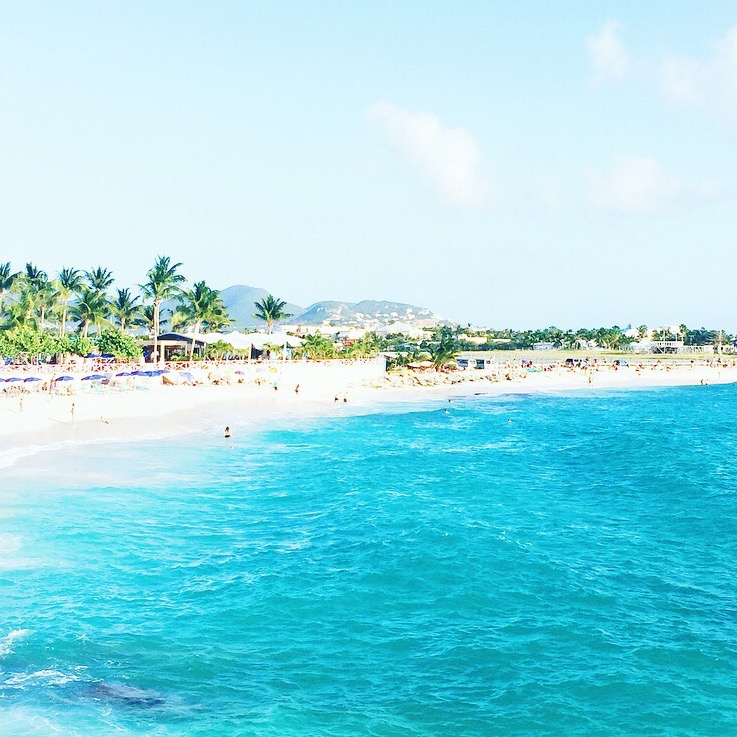 The view of the beach from the Sonesta Ocean Point all-inclusive resort