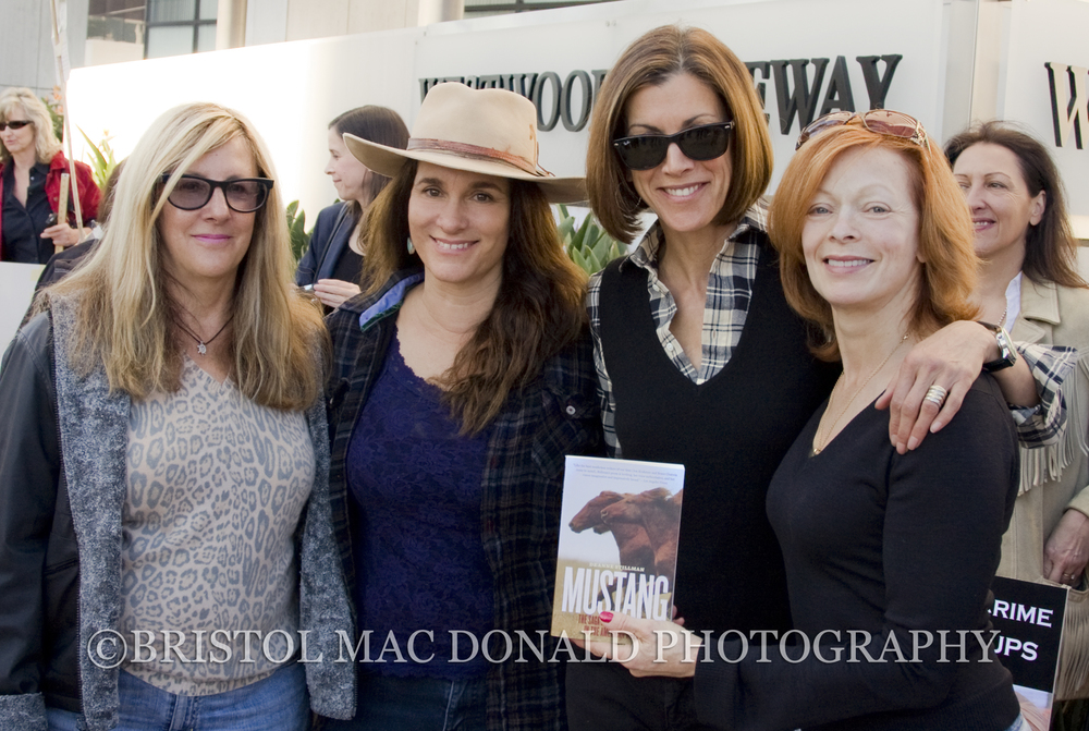 Deanne Stillman, Neda DeMayo, Wendie Malick and Frances Fisher at a Los Angeles Wild Horse Rally, Westwood 2009