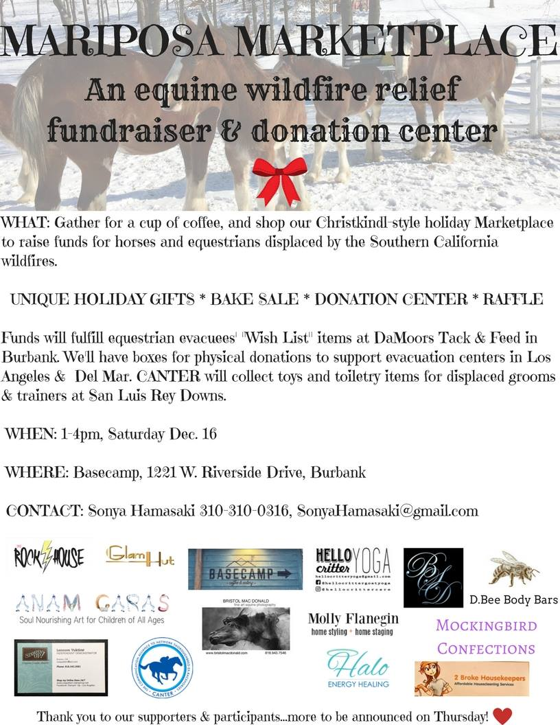Holiday Marketplace & Wildfire Relief Fundraiser 2017
