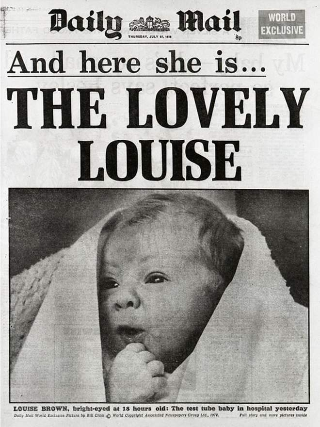 """Capa do jornal britânico """"Daily Mail"""" em 25/07 de 1978."""