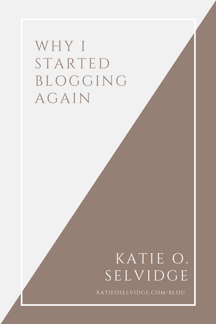 Why I started blogging again. | katieoselvidge.com