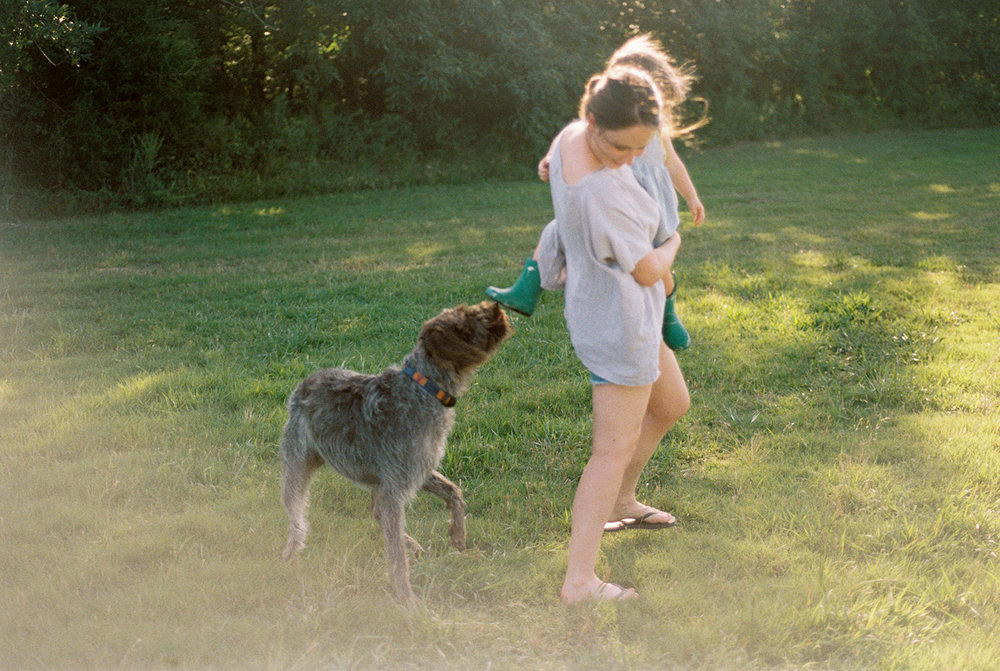 And sometimes we get chased (friendly, of course) by my in-laws excited Wirehaired Griffons!