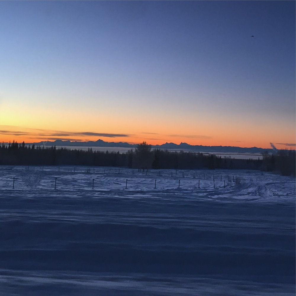 Sunrise again, Alaska range