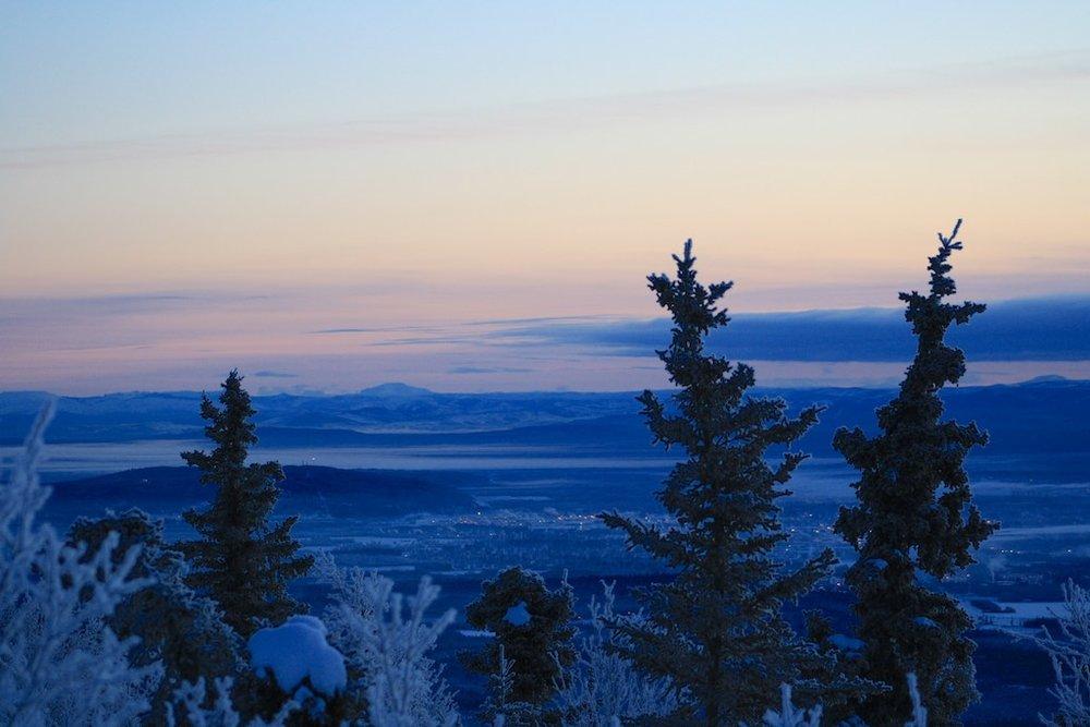 Fairbanks, in the dead of winter.
