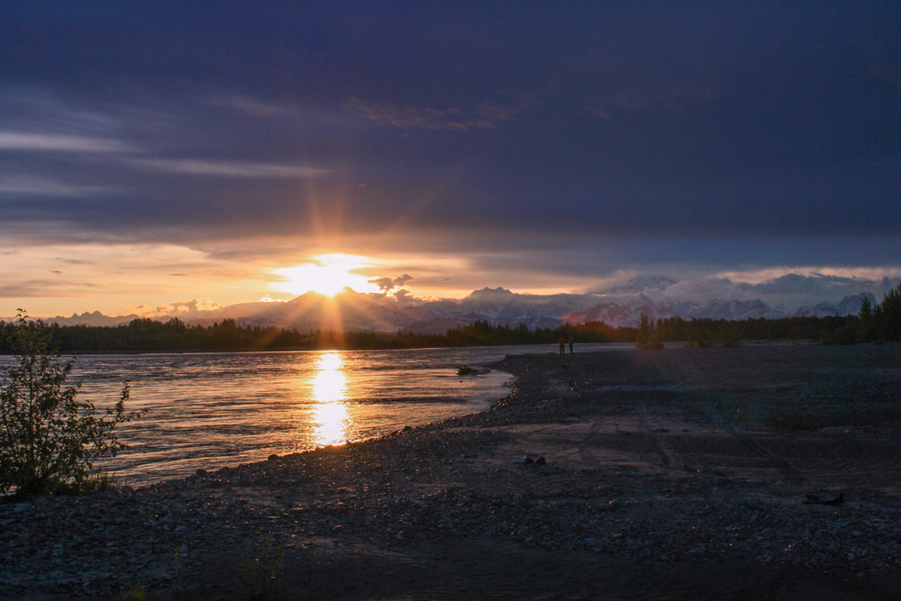 Solnedgång i Talkeetna, AK