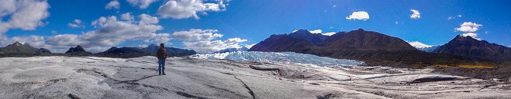 Ståendes på Matanuska Glacier