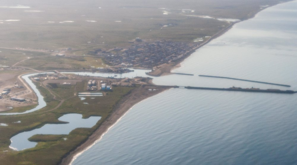 Lite suddig bild på Nome jag tog från planet