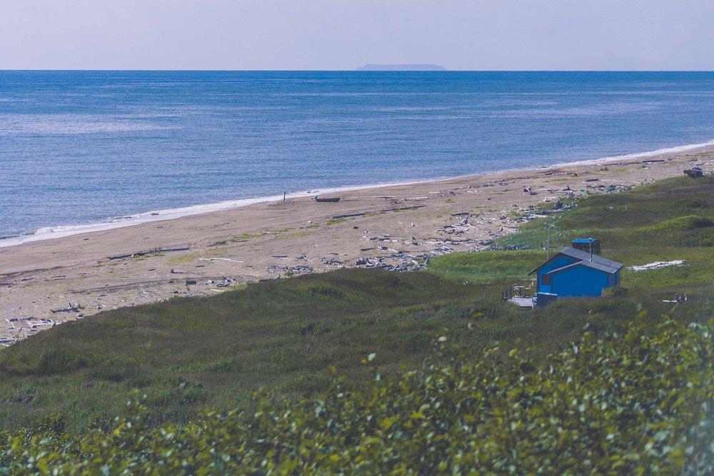 Sledge Island vid horisonten