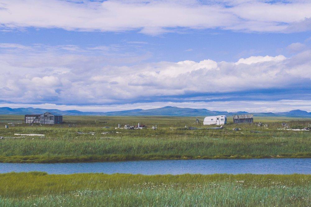 Utanför Nome, Alaska. Juli 2018