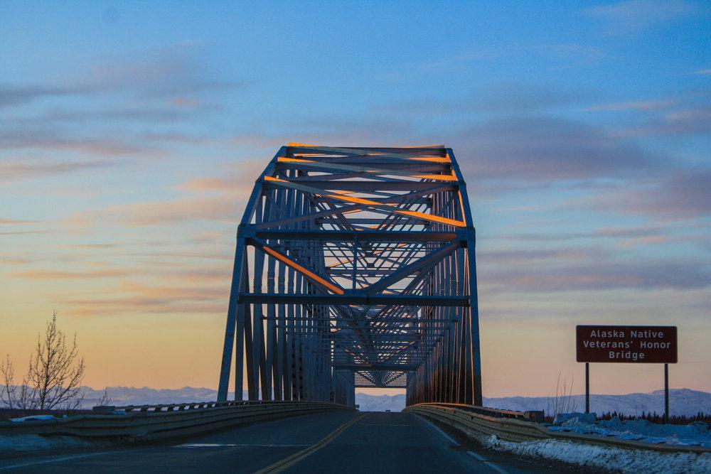 Alaska Native Veterans' Honor Bridge, Alaska. March 2013