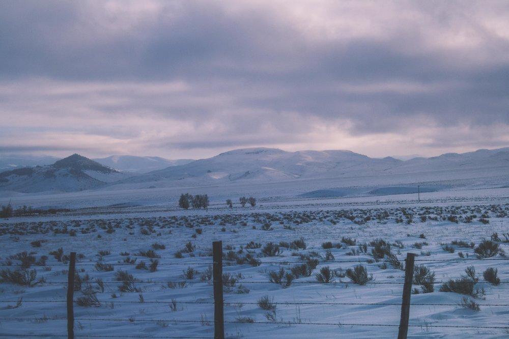 On the Road, Montana. January 2017