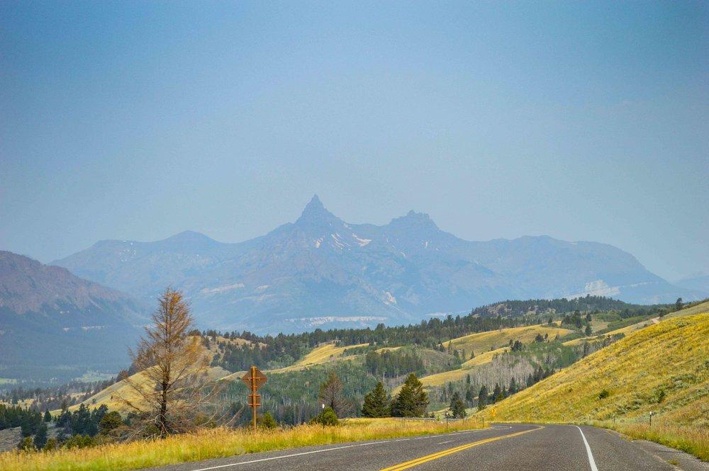 Pilot Peak i bakgrunden. Foto taget av min pappa