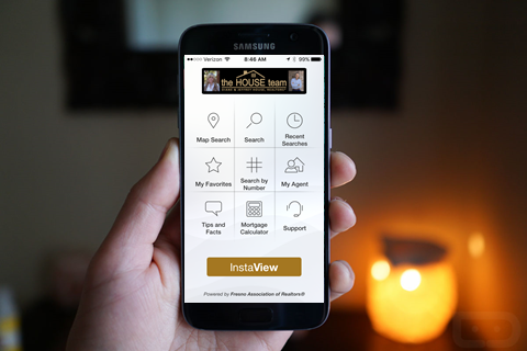 Mobile App Home Search
