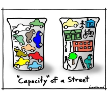 See Ian Lockwood's insightful and funny cartoons on transportation and urban design