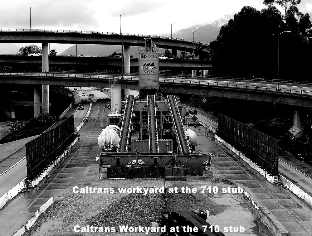 The Caltrans work yard