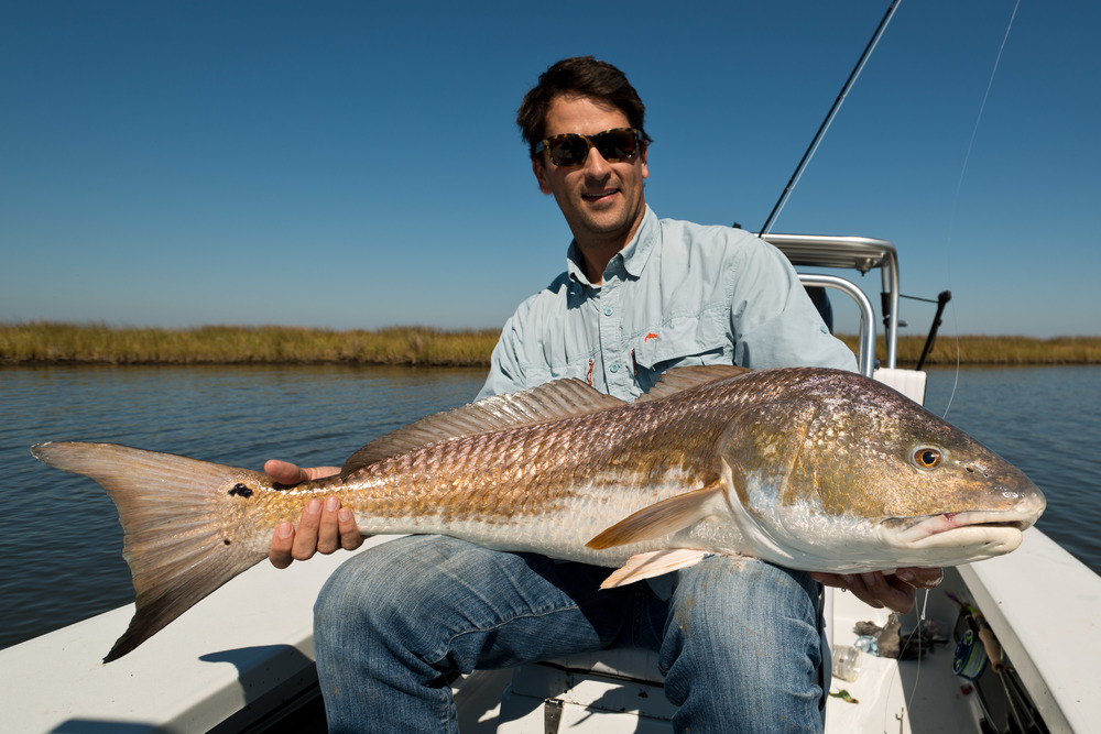 Fly Fishing Redfish New Orleans Louisiana Marsh 23