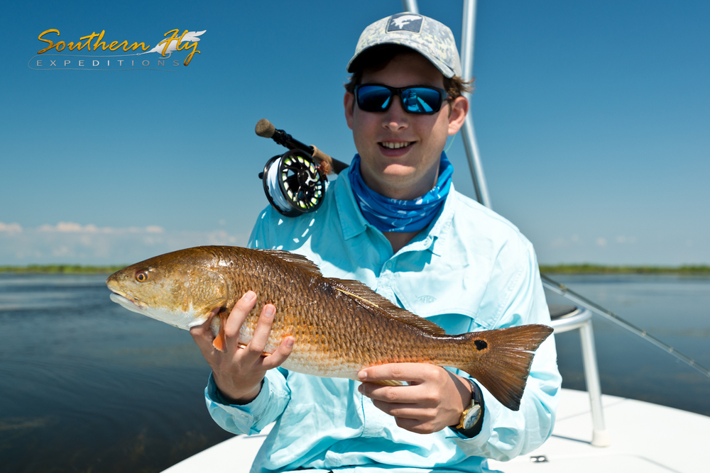 Redfish Fly Fishing - Family Fishing Trips with Southern Fly Expeditions of New Orleans