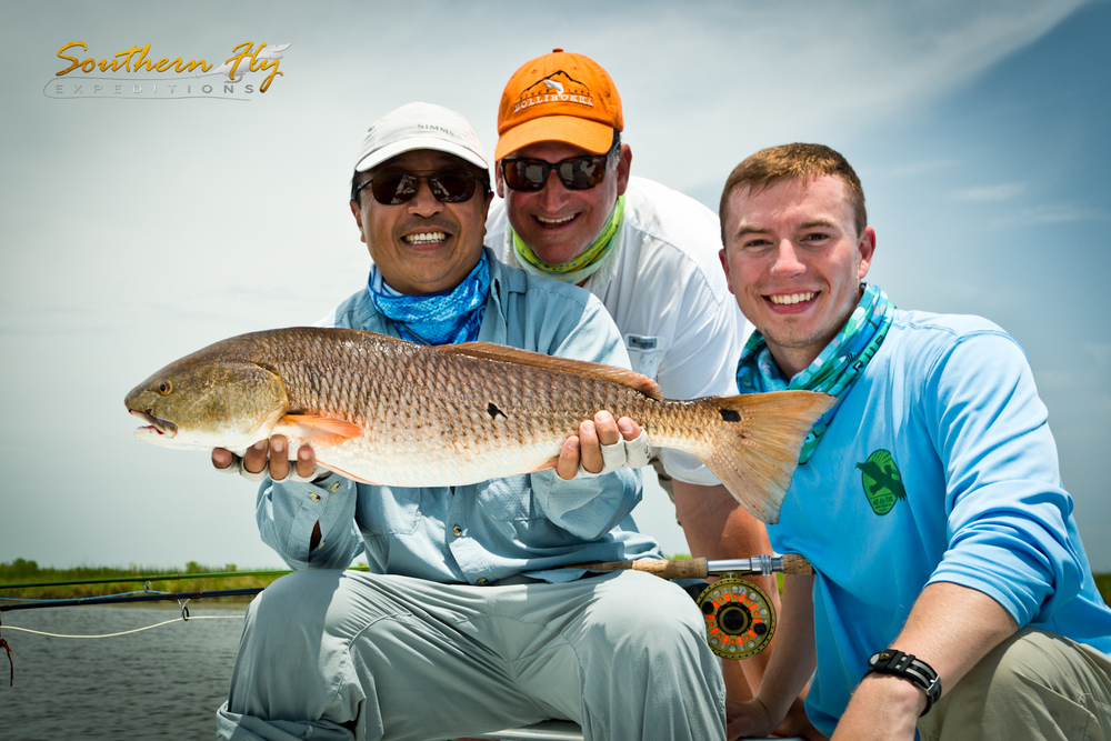 Fly Fishing Photos of Redfish with Captain Brandon Keck of Southern Fly Expeditions