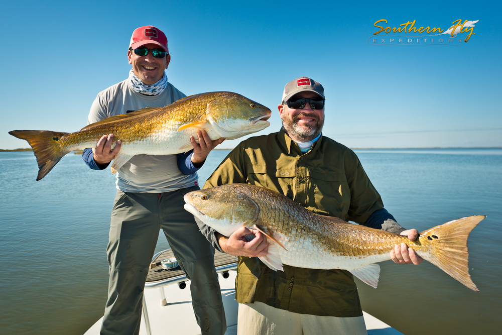 Dual Catch of Monster Red Drum