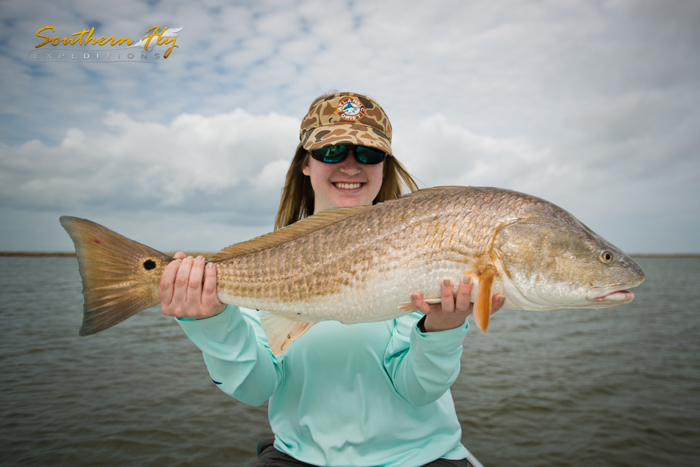 Women Favorite Fly Fishing Redfish Guide New Orleans