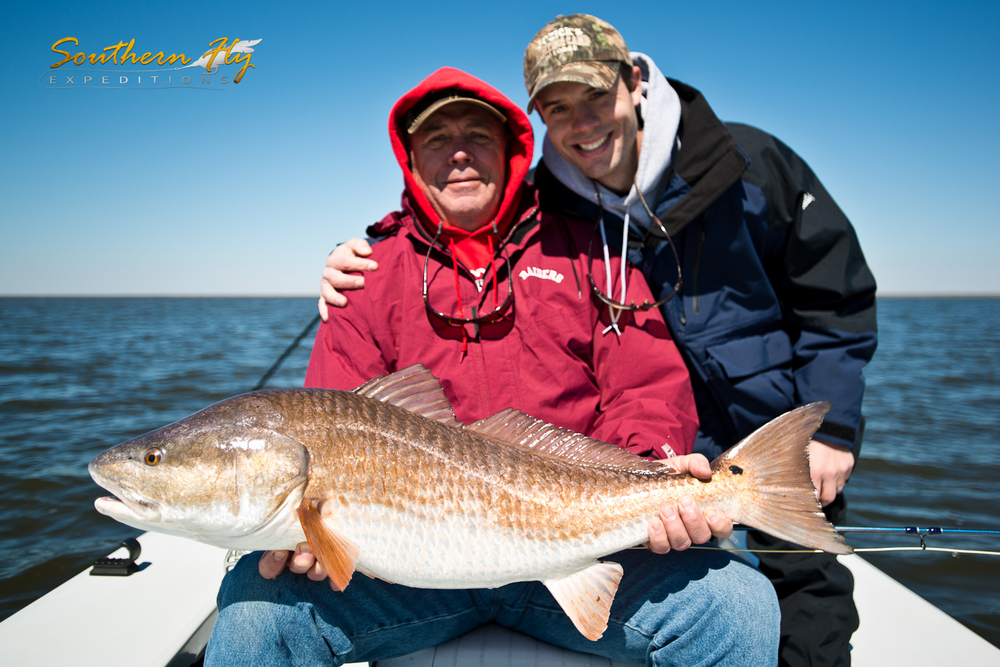 Family Fly Fishing Trip Casting for Redfish Southern Fly Expeditions Fishing New Orleans