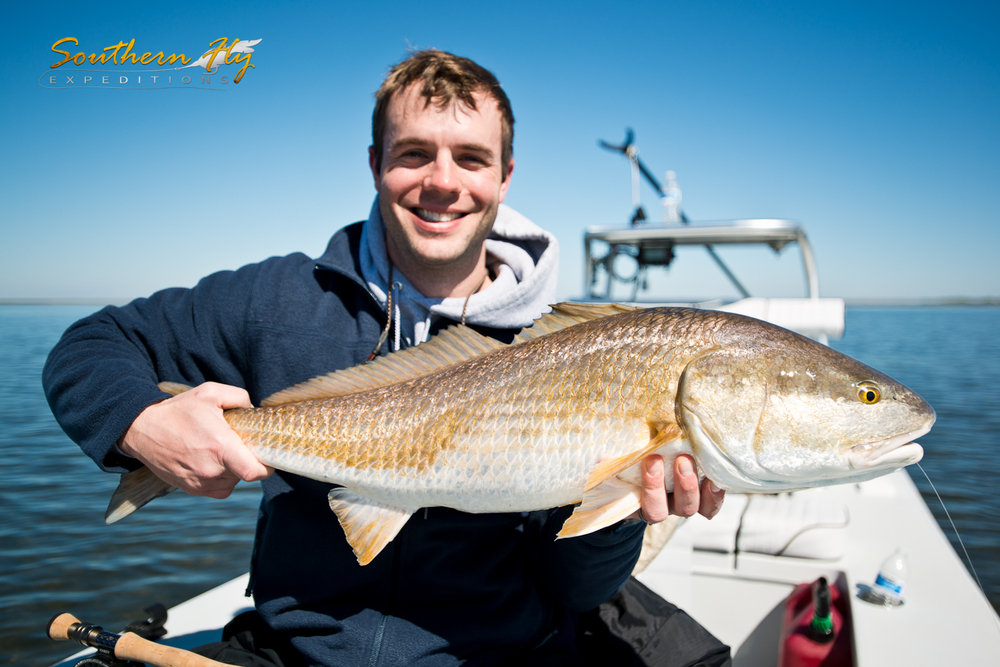 Redfish Catch on a Louisiana Fly Fishing Trip