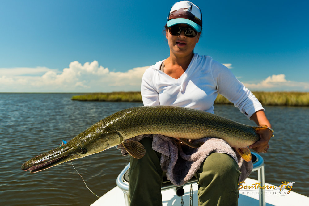 Women's Fly Fishing Charter New Orleans