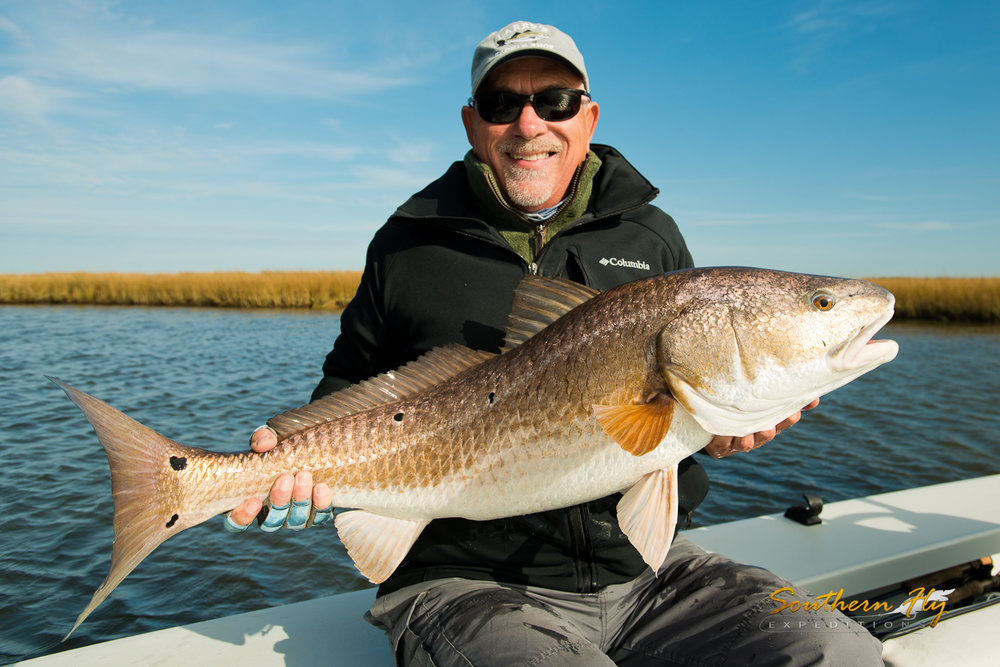 Fly Fishing Redfish - New Orleans Fly Fishing with Southern Fly Expeditions