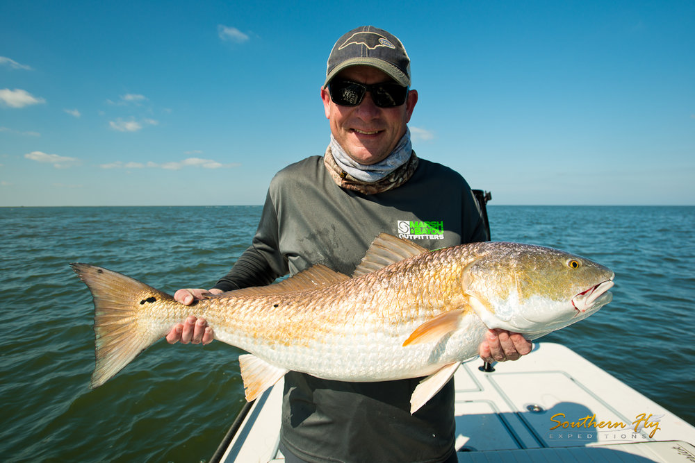 Fly fishing louisiana with Southern Fly Expeditions and captain brandon keck