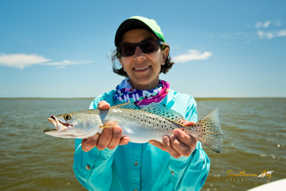 Lady Anglers Fly Fishing New Orleans
