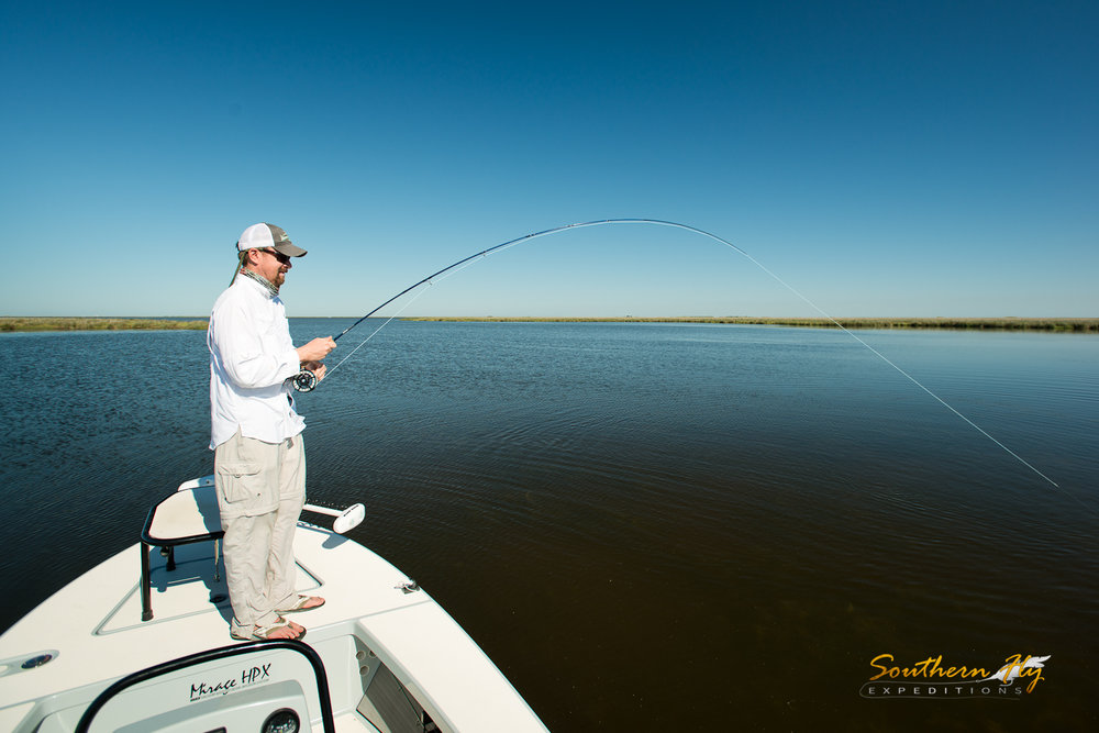 Fly Fishing New Orleans Salted Flats with Southern Fly Expeditions and Captain Brandon Keck