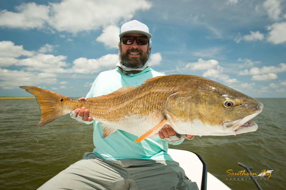 Salted Flats Fly Fishing New Orleans with Southern Fly Expeditions New Orleans Fishing