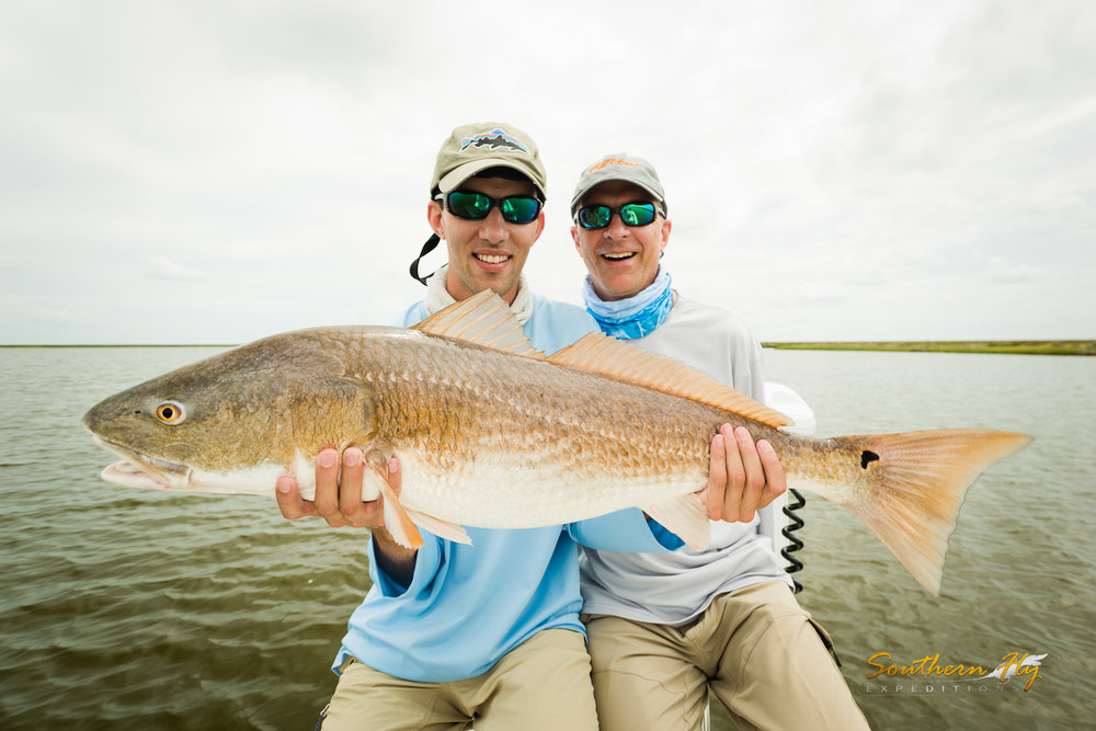 Couples fly fishing trips New Orleans with Southern Fly Expeditions Guide