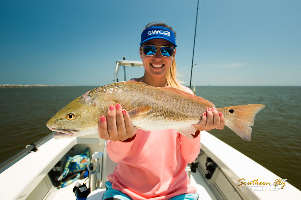 Best Redfish Guide in Louisiana - Captain Brandon Keck and Southern Fly Expeditions LLC