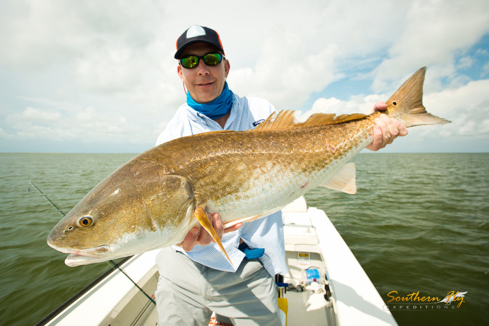 fishing for redfish in louisiana Southern Fly Expeditions