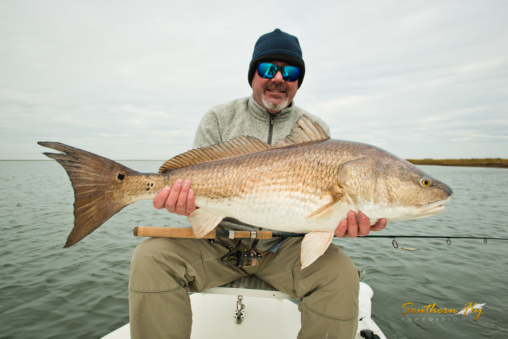Sight Fishing Vacation in Shallow waters near Delacroix La with Southern Fly Expeditions