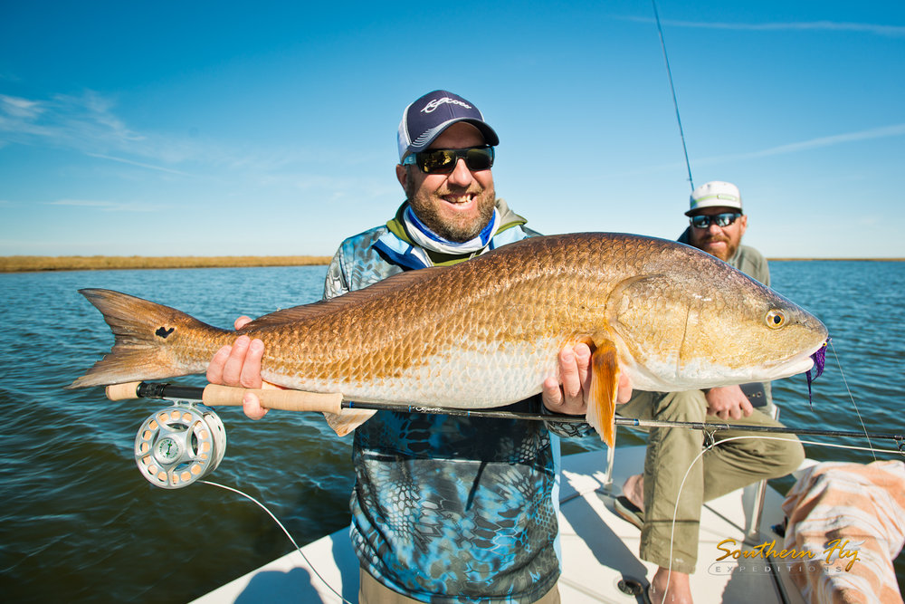 redfish guide with southern fly expeditions and captain brandon keck