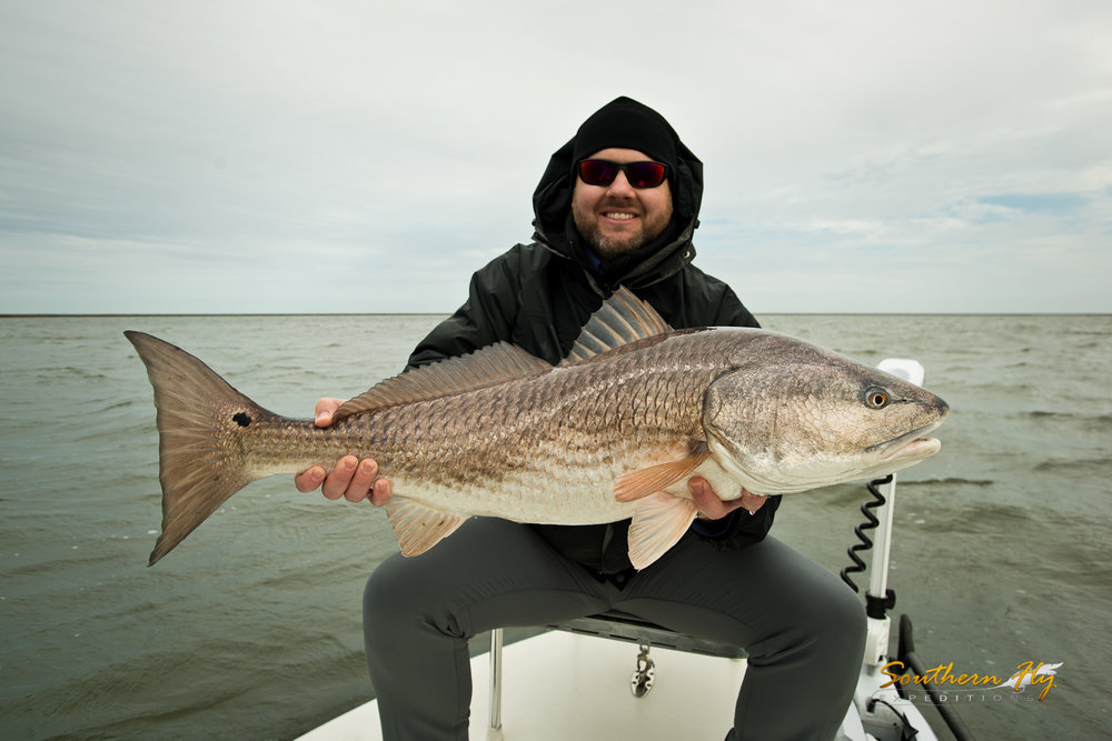 Light Tackle fishing Redfish New Orleans Southern Fly Expeditions